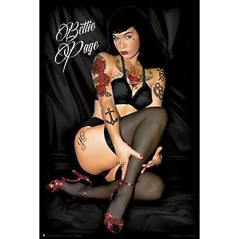 Bettie Page tatuajes cartel Poster Print