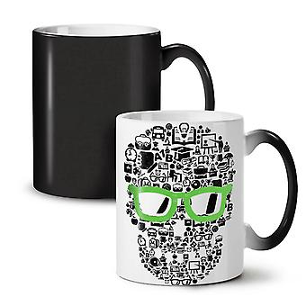 Swag Cool Head Face Skull NEW Black Colour Changing Tea Coffee Ceramic Mug 11 oz | Wellcoda