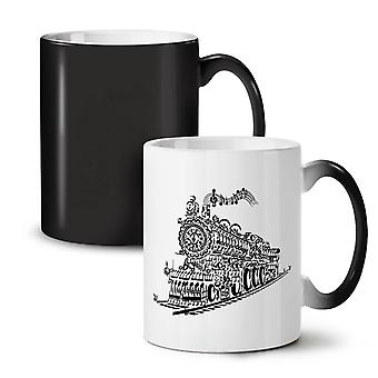 Train Note Music Music NEW Black Colour Changing Tea Coffee Ceramic Mug 11 oz | Wellcoda