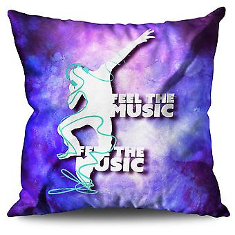 Club Dj Song Dance Linen Cushion 30cm x 30cm | Wellcoda
