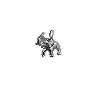Silver 20x19mm Jumbo Elephant Pendant or Charm