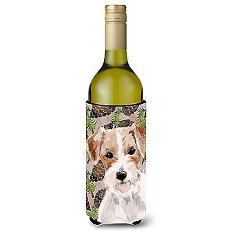 Garrafa de vinho Beverge isolador Hugger Cones de fio cabelo Jack Russell pinho