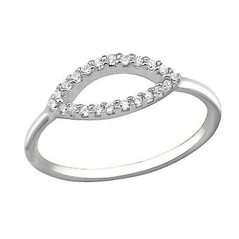 Oval - 925 Sterling Silver Jewelled Rings - W30351x