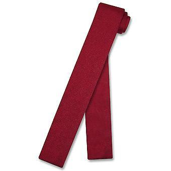 Biagio strikket halsen Tie Solid menns strikket slips