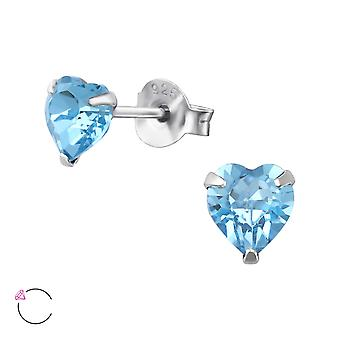 Heart Crystal From Swarovski® - 925 Sterling Silver Ear Studs - W36076x