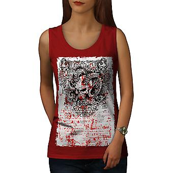 Skull Scary Evil Women RedTank Top | Wellcoda