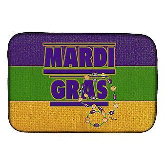Carolines Treasures  8388DDM Mardi Gras Dish Drying Mat