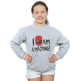 Marvel Spiderman-Girls Ich bin erstaunlich Sweatshirt
