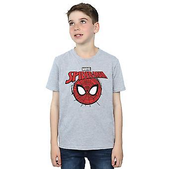 Marvel Boys Spider-Man Logo Head T-Shirt