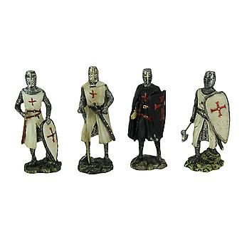 Gothic Crusaders Set of 4 Medieval Knight Statues