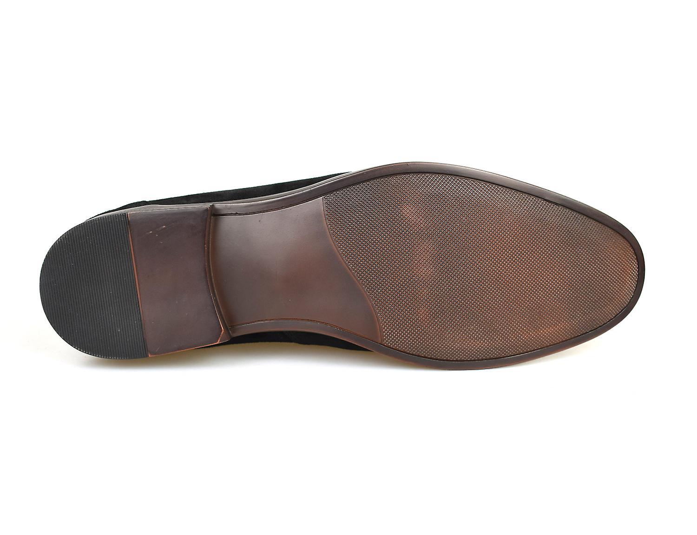 La paperasserie Cobham Black Suede Mens Tasseled mocassins chaussures occasionnelles