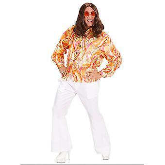 70 'er mod skjorte (Pink/Orange/grøn)