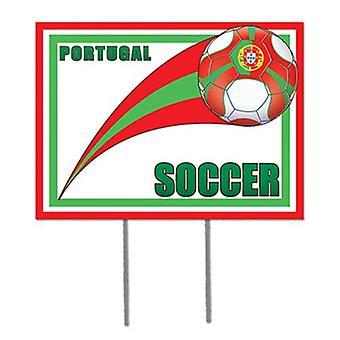 Portugal fotboll trädgård tecken