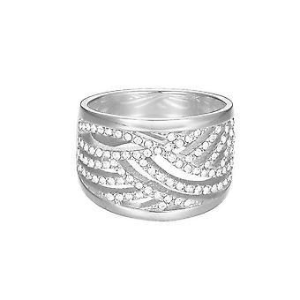 Esprit Damen Ring Edelstahl Silber JW50236 Zirkonia ESRG02688A1
