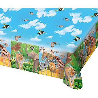 Table cloth tablecloth tablecloth Safari kids party birthday 130x180cm