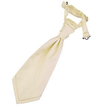 Champagner Plain Satin Hochzeit bereits gebundene Krawatte für jungen