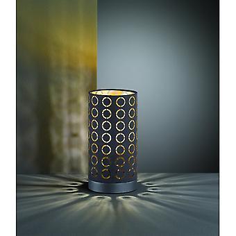 Trio Beleuchtung Tweety moderne schwarze Metall-Tischlampe
