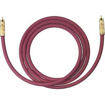 RCA audio/phono kabel [1x RCA plug (phono)-1x RCA plug (phono)] 4 m Bordeaux vergulde connectors Oehlbach NF 214 SUB