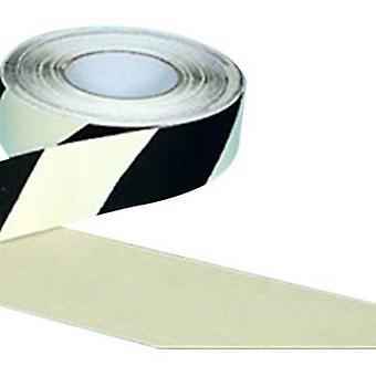 B-בטיחות AR226050 נגד כיסוי החלקה, לומינציה ארוכה שחור, לבן (L x W) 18.3 m x 50 mm