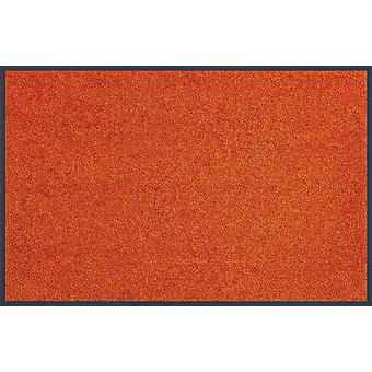 wassen + droge tendens kleur Burnt Orange wasbaar Vloermatten