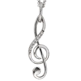 585/w 0, 039ct pendant. Trailer clef 585 White Gold Diamond brilliant