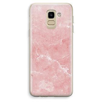 Samsung Galaxy J6 (2018) Custodia trasparente (Soft) - marmo rosa
