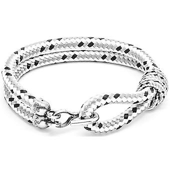Anchor and Crew Great Yarmouth Silver and Rope Bracelet - Grey Dash