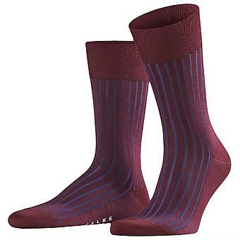 Sombra de Falke Midcalf calcetines - Barolo rojo/marino