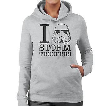 Original Stormtrooper ich Herz Troopers Frauen die Kapuzen-Sweatshirt