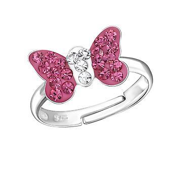 Бабочка - 925 стерлингового серебра кольцо - W24012x