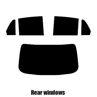Pre gesneden venster tint - Dodge Trazo 4-deurs sedan - 2004 tot 2012 - achterzijde windows