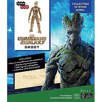 IncrediBuilds Marvel: Guardians Of The Galaxy Groot 3D Wood Model and Book
