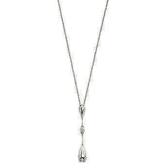 Delar Silver Pave Drop Pendant - Silver