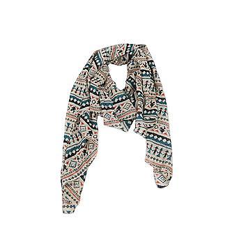 Lovemystyle Beige Scarf med flerfärgat Aztec Print
