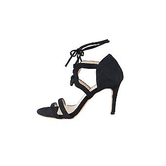 Lovemystyle Lace Up Heeled Sandals In Black
