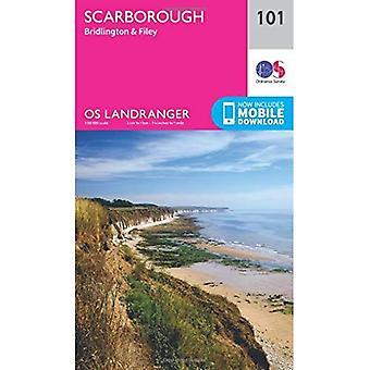 Landranger (101) Scarborough, Bridlington & Filey (OS Landranger mapę)