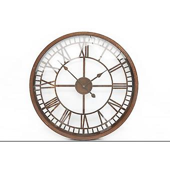 67x67cm Rustic Glass Face Metal Wall Clock