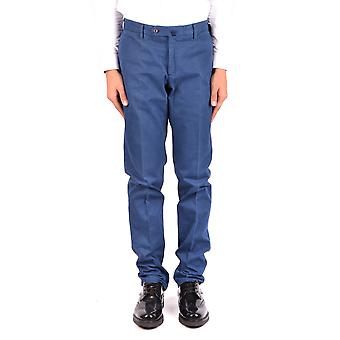 Incotex Ezbc093049 Men's Blue Cotton Pants