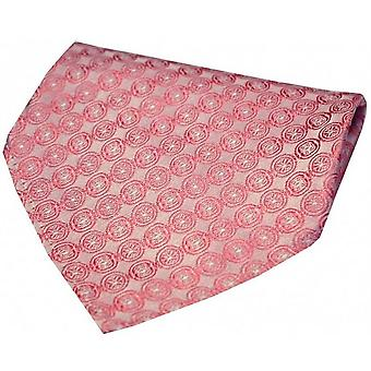 David Van Hagen Circular Chain Silk Handkerchief - Red