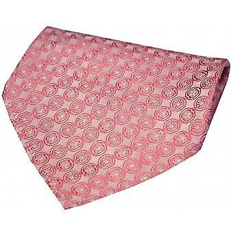 David Van Hagen chaîne circulaire mouchoir de soie - rouge
