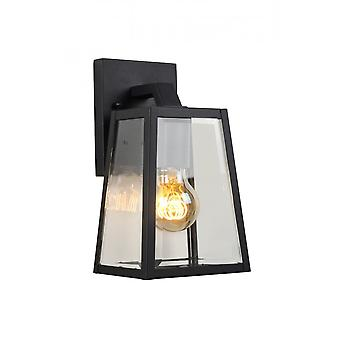 Lucide Matslot Cottage Corner-Shaped Metal Black Wall Light