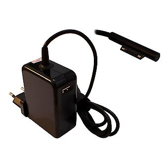 Microsoft Surface Pro 5 Compatible Laptop Power AC Adapter Charger With Built In EU Plug