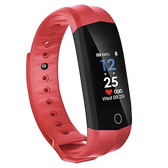 Waterproof activity wristband with color screen-red