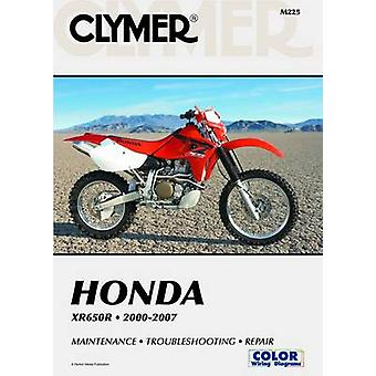 Honda XR650R - 2000-2007 by Clymer Publications - 9781599692036 Book