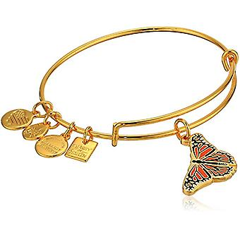 Alex and Ani Charity By Design - Monarch Butterfly Charm Bangle Bracelet - Shiny Gold - Expandable - CBD18MB01SG