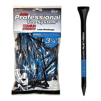 Pride PTS Titanium Golf Tees 3 1/4in Tees x 65 Extra Strength Less Breakage