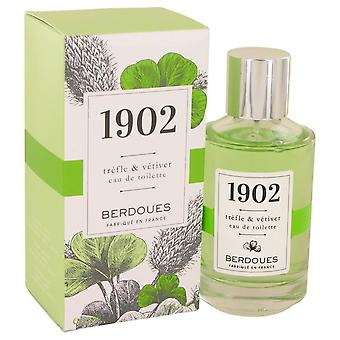 1902 trefle & vetiver eau de toilette spray by berdoues 537876 100 ml