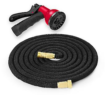 25FT - 200FT Expandable Flexible Garden Hose Pipe with Spray Gun & Brass Fitting