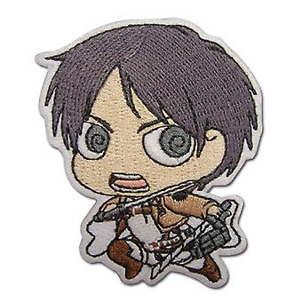 Patch - Attack on Titan - New SD Eren Iron-On Toys Anime Licensed ge44791