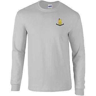 første Royal Dragoner-lisensiert britiske hæren brodert langermet T-skjorte